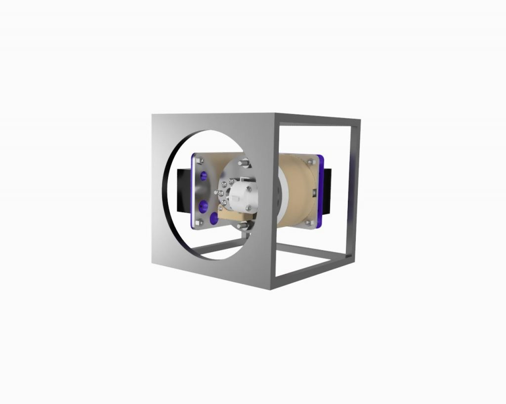 AIS-EHT1 Micro End Hall Thruster Fully Integrated System - 1U Size Render 2