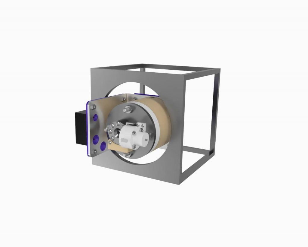 AIS-EHT1 Micro End Hall Thruster Fully Integrated System - Tuna Can Space Render 1