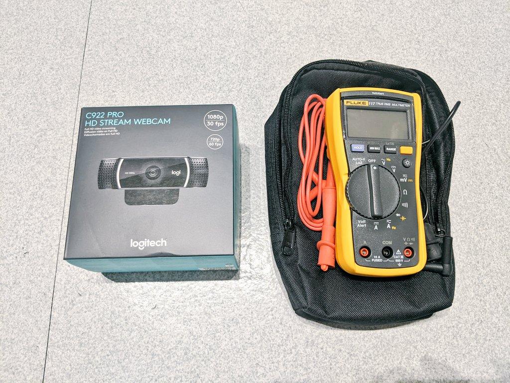 C922 Pro Webcam and Fluke 117 Multimeter