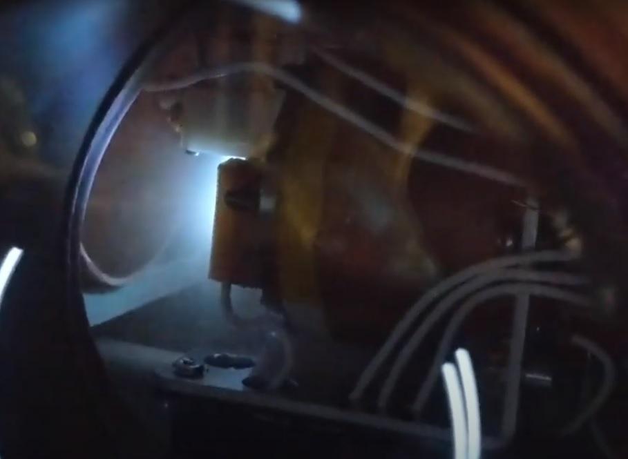 AIS-EHT1 Micro End Hall Thruster - Full System Ignition Test 2 - Plasma Plume 2