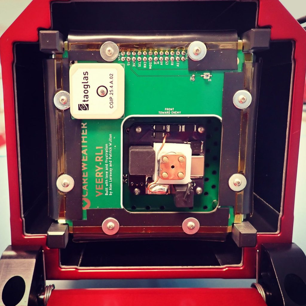 Care Weather Hatchling Veery 1U Cubesat with AIS-gPPT3-1C Micro Pulsed Plasma Thruster