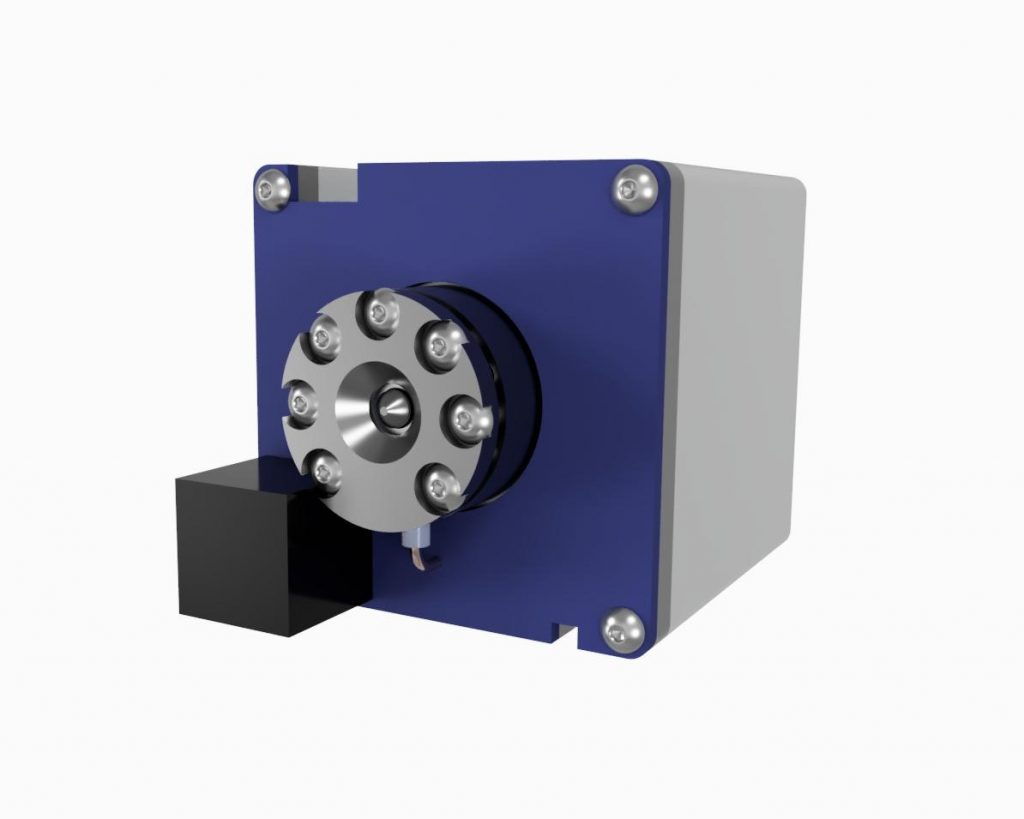 AIS-AHT1-PQ - Pico Anode Layer Hall Thruster - Isometric Front CAD Render