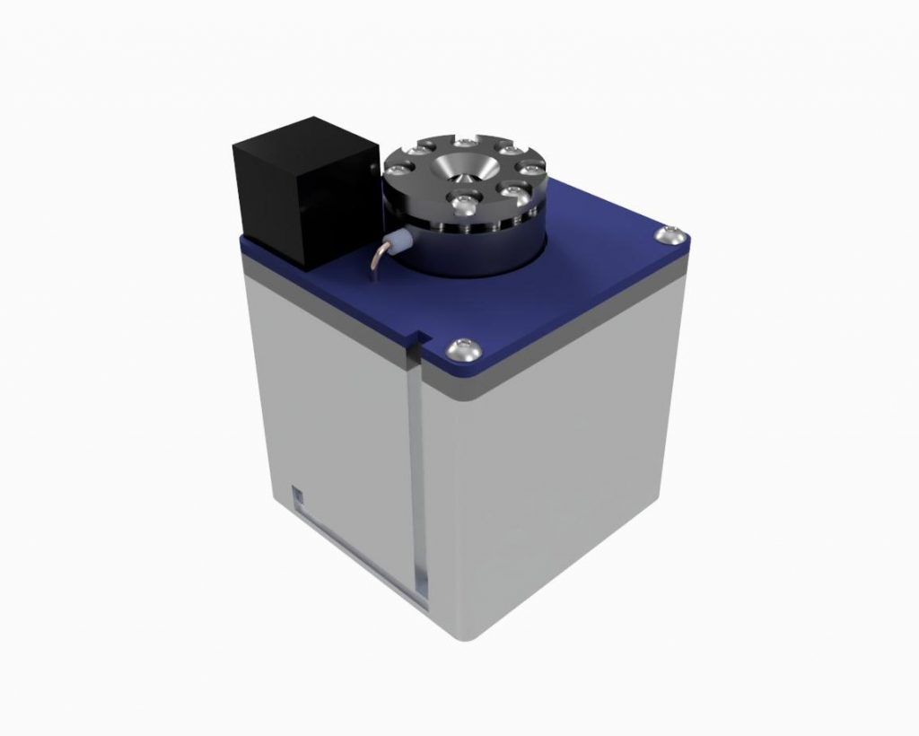 AIS-AHT1-PQ - Pico Anode Layer Hall Thruster - Isometric Top CAD Render