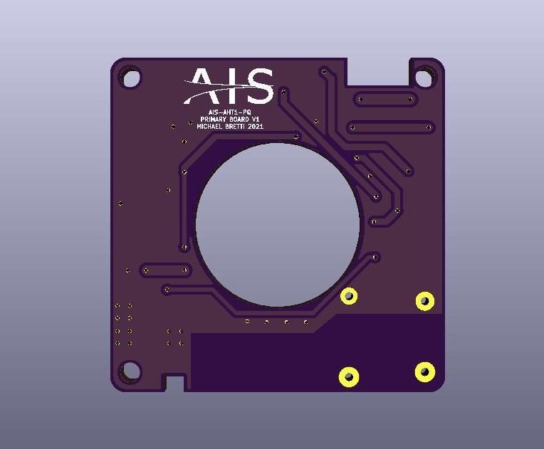AIS-AHT1-PQ - Pico Anode Layer Hall Thruster - Main Board V1 Render BACK