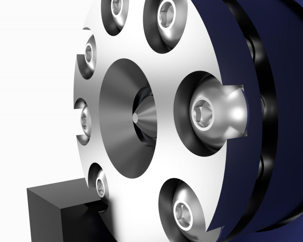 AIS-AHT1-PQ - Pico Anode Layer Hall Thruster - Thruster Close-Up CAD Render